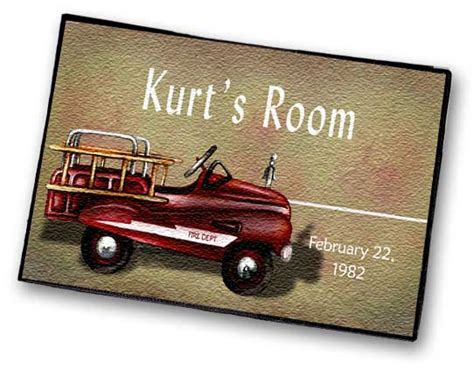 engine personalized floor rug for