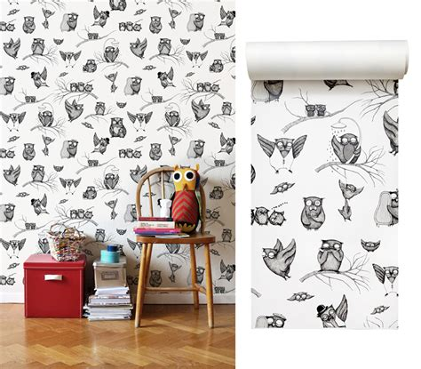 owl bedroom wallpaper photowall mural competition room to bloom