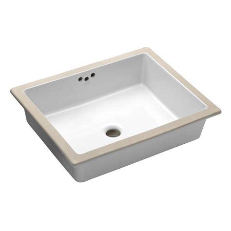 kholer bathroom sinks kohler kathryn vitreous china undermount bathroom sink in white with overflow drain k