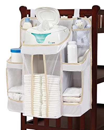 Hiccapop Nursery Organizer And Baby Diaper Caddy Hanging Hanging Changing Table Organizer