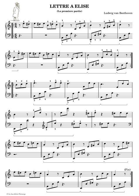 beethoven lettere piano gnu quot lettre 224 elise quot premiere partie