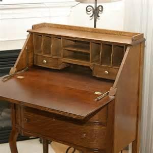 Vintage Folding Table by Slant Front Secretary Desk Stone Bridge Antiques