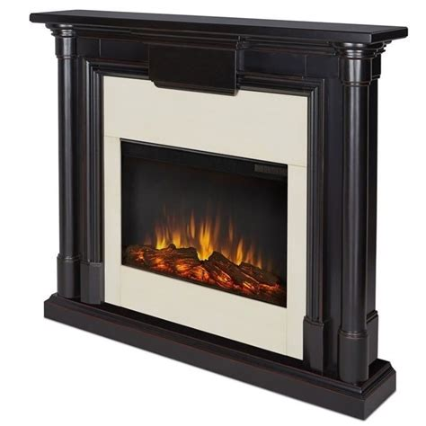Indoor Electric Fireplace Real Maxwell Indoor Slim Electric Fireplace In Black Wash 7030e Bw
