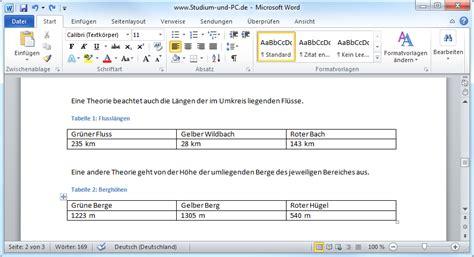 Beschriftung English by Tabellen Und Abbildungen Beschriften Mit Word 2010