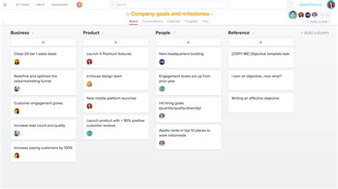 company goals and objectives template using asana for strategic planning product guide 183 asana