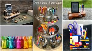 14 smart ways to store and organize your desk in diy