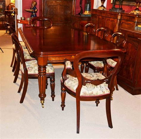 Grand English Regency Dining Table 8 Chairs Mahogany Mahogany Dining Room Table And 8 Chairs