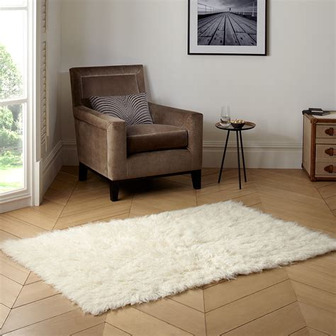 Small Flokati Rug by Classic Minimalist Living Room With Small Square Flokati