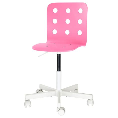 kids pink desk chair jules children s desk chair pink white ikea