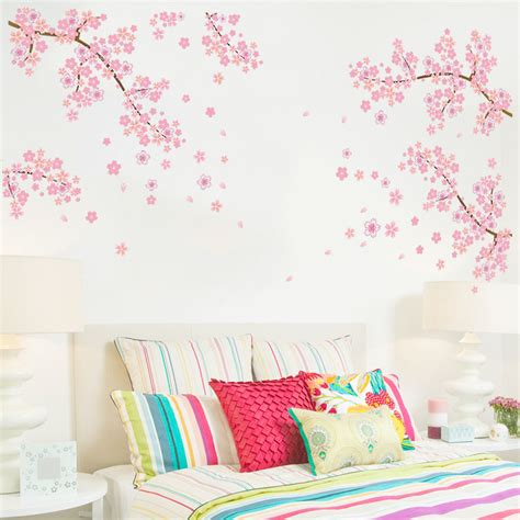 romantic wall stickers for bedrooms romantic 2016 plum blossom beautiful scenery flowering
