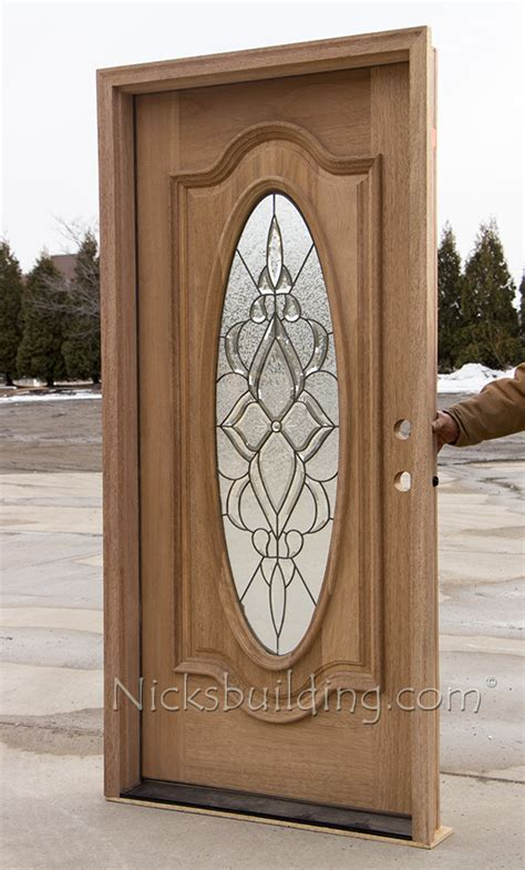 Oval Glass Exterior Mahogany Doors Cl 106 Oval Glass Front Entry Door