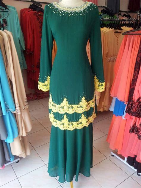 Baju Kurung Hijau baju kurung hijau emerald as syahid collections raya 2016 baju kurung malaysia butik kurung