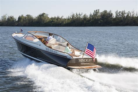 hinckley yachts david howe just launched a new addition to hinckley s runabout line