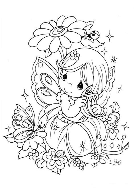 drawing fairy precious moments coloring child coloring