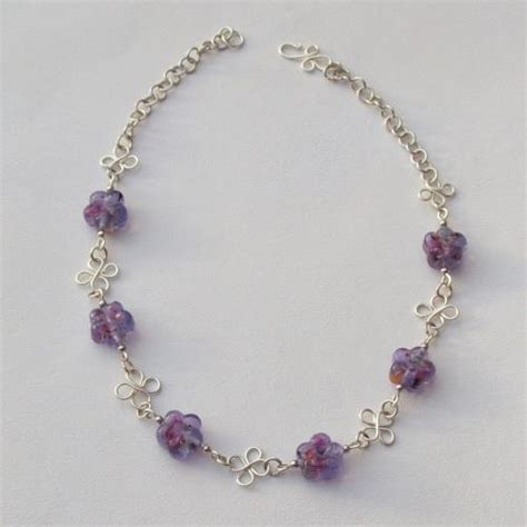 you to see lilac flower bead wire necklace on craftsy