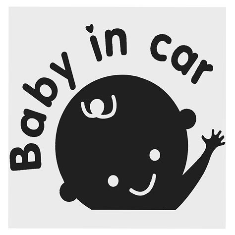Stikersticker Reflective Tanda Kendaraan Safety Car Bayi Di Mobil Gambar Kartun Mobil Stiker Melambaikan