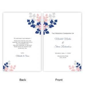 folded wedding program template folded wedding program template diy