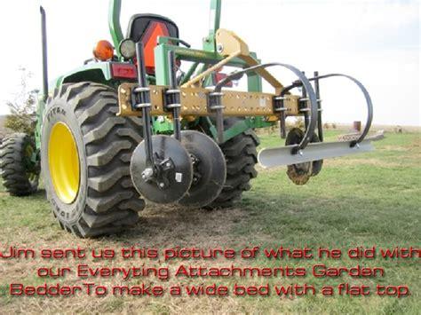 tractor 3 point hitch garden bedder raised bed