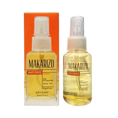 jual makarizo anti frizz spray 70 ml harga