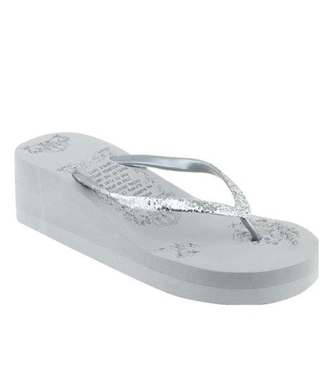 silver one slippers shoe lab silver slippers price in india buy shoe lab