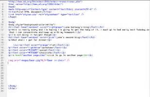 html code written work html and css analysis and coding plainyjane