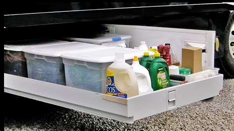 How To Organize Kitchen by How To Organize An Rv Basement Youtube