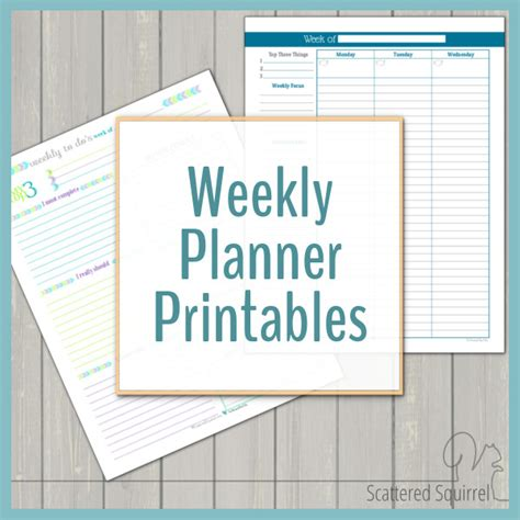 Galerry printable weekly planner template pdf