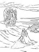 angels visit abraham coloring page god and the angels visit abraham coloring page