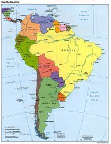 map page of south america