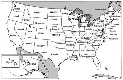 aux etats unis dafrique une carte des etats unis 192 voir
