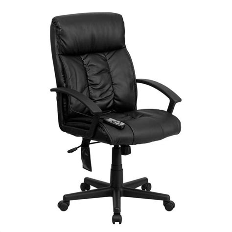 flash furniture high back massaging leather office chair