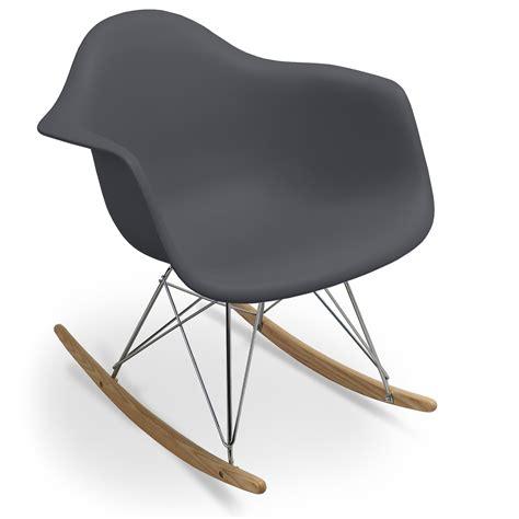 fauteuil eames bascule fauteuil 224 bascule gris fonc 233 mat inspir 233 e charles eames lestendances fr