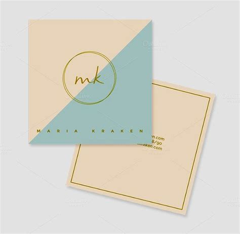 mini card templates mini square business card psd templates design graphic