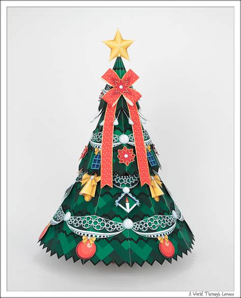 Papercraft Ornaments - paper tree craft lights decoration