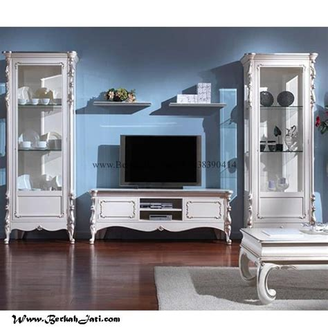 Tv Warna Putih lemari bufet tv warna putih duco minimalis berkah jati furniture berkah jati furniture