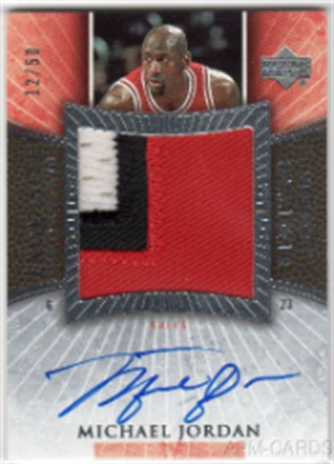 Mj Ud 2005 06 The Top Michael Autographed Cards Of All Time