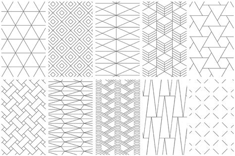 design pattern using c simple line geometric patterns by youan design bundles
