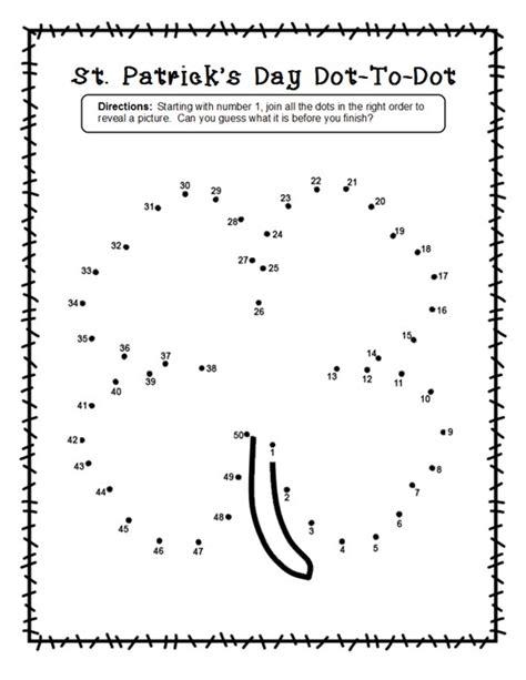 free printable dot to dot shamrock 2 shamrock dot to dot freebies for st patrick s day