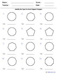 identify polygons worksheets