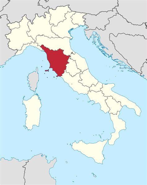 map of tuscany tuscany