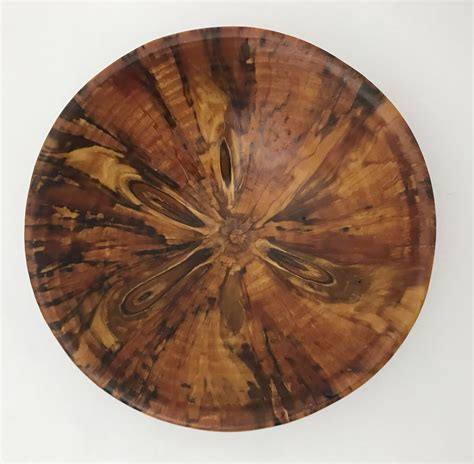 custom hand lathe turned norfolk island pine wood bowl