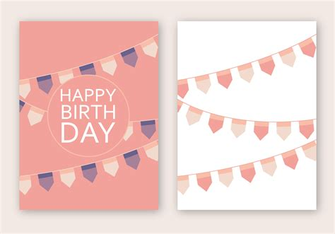 birthday card template free vector happy birthday card vector free vector