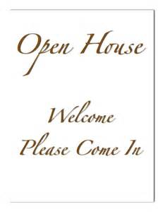 Welcome Sign Template by Open House Welcome Sign