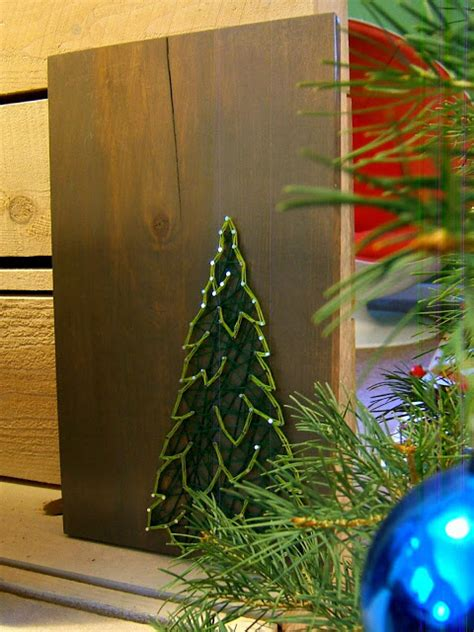 Tree String Pattern - diy winter evergreen string pattern