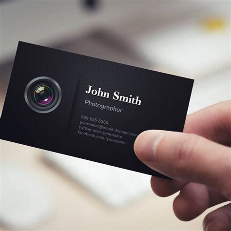 professional photographer business card templates professional plain black photographer pack of