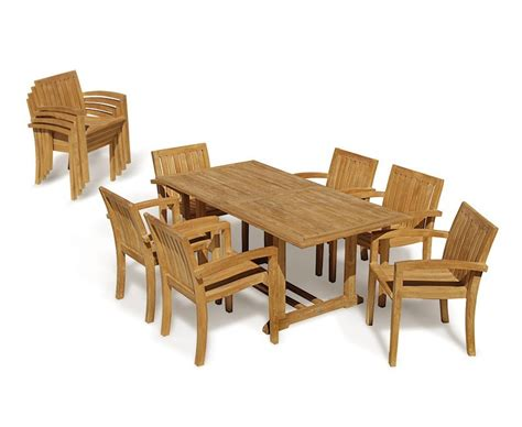 6 seater table and chairs hilgrove 6 seater garden table and monaco stacking chairs set