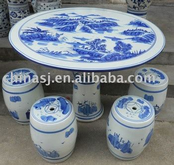 blue and white porcelain table chinese porcelain garden table and stool wryay18 buy