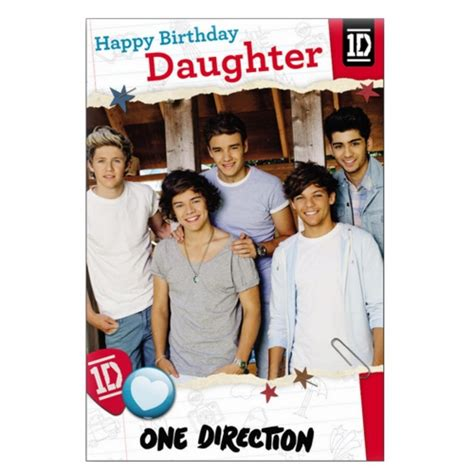 One Direction Birthday Cards Official One Direction Birthday Card With W O Sound