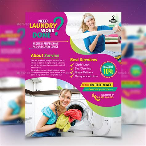 flyer template laundry laundry service flyer by design station graphicriver