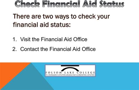Financial Aid Welcome Letter Welcome To The Financial Aid Orientation At Folsom
